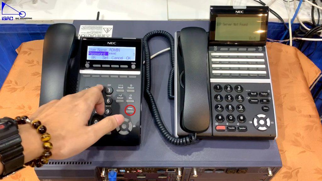 NEC SV9100 : การ Config เบอร์ภายในโดยใช้เครื่องโทรศัพท์ IP