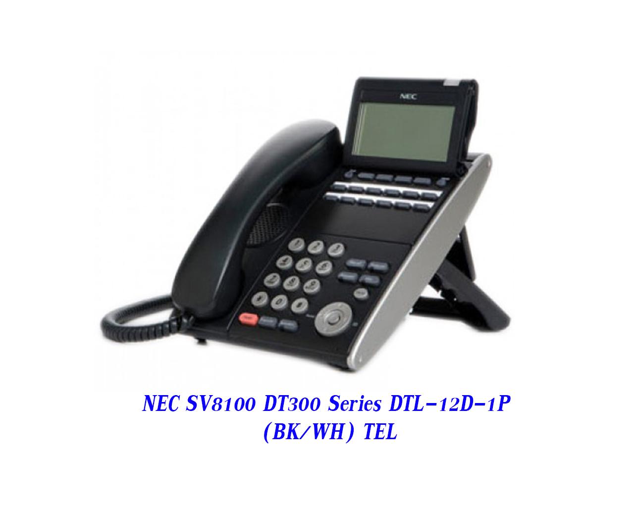 NEC SV8100 DT300 Series DTL-12D-1P (BK/WH) TEL